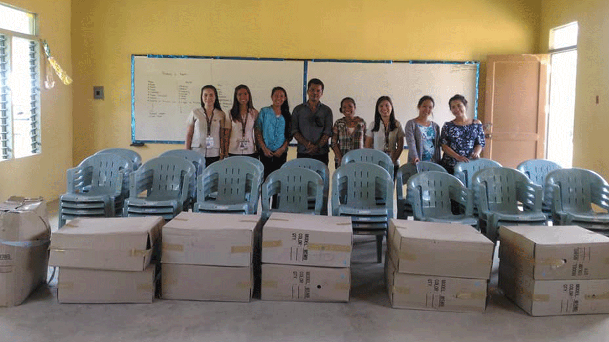 Chairs for Malo High School students